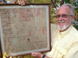 Michael E. Holtby, Denver, Colorado holds the Rawdon Township Map used by 3X great grandfather William Holtby