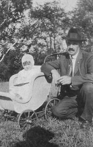 James Cornelius Roach (1873-1946), son of John Roach and Ann Daly, and his eldest daughter Cecilia (born 1920).