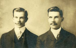 William and Edward Burbidge probably in Minneapolis, c. 1904