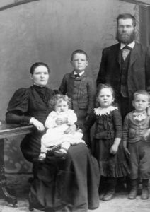 John Parkinson & Mary Gray, Esther (d. 1898), Ralph, Carrie & Jim