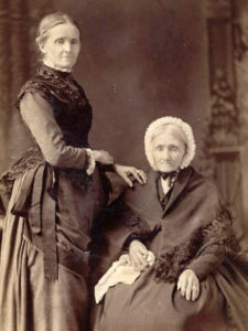 Jane Tate Sadler with Mary Parkinson Tate