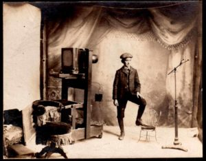 Archie Livingston in his Aberdeen, WA Photo Studio c. 1906
