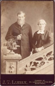 James Swift 1819 -1899& Rachel Veal 1816 - 1893 in Montreal before 1888 immigration to Sauk Center, Minnesota