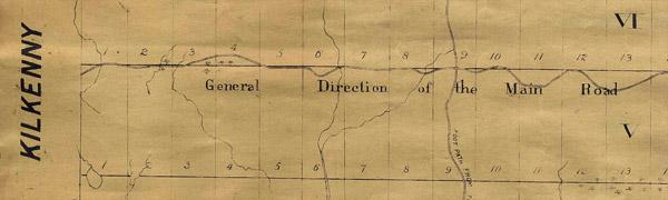 1821 Map of Rawdon Township - main road