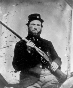 Private John McNown, 1861
