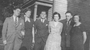 1940: Tinkler sisters and husbands Roderick Candlish and Marjorie Tinkler (1909 – 1979) Harold Brior and Bessie Tinkler (1907 – 1991) John Miller and Eva Miller (1906 - )