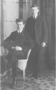 John Edmond Tinkler ( 1894 -1963), seated Cecil Lawrence Parkinson (1900 - 1975)